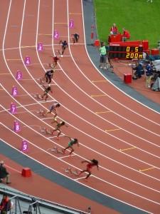Départ du 200 m femmes