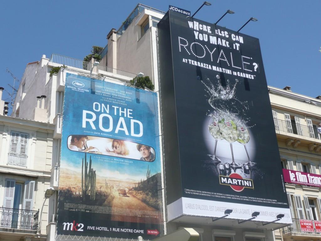 """Affiche de """"Sur la Route"""" dans Cannes"""