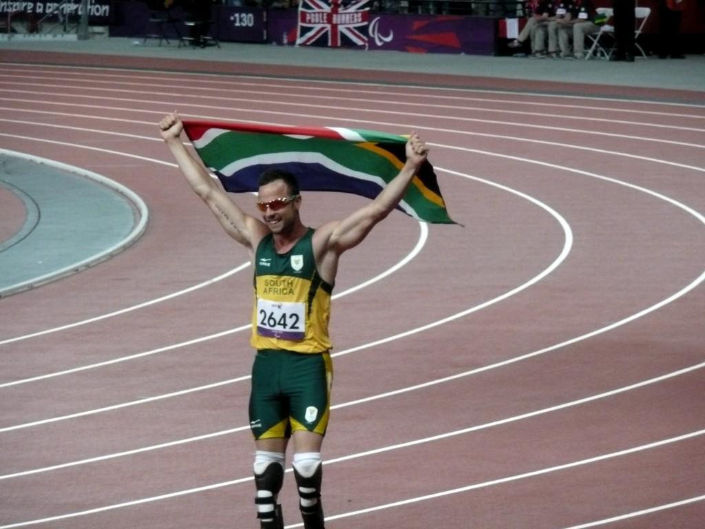 Oscar Pistorius winning the 400 meters T44 final