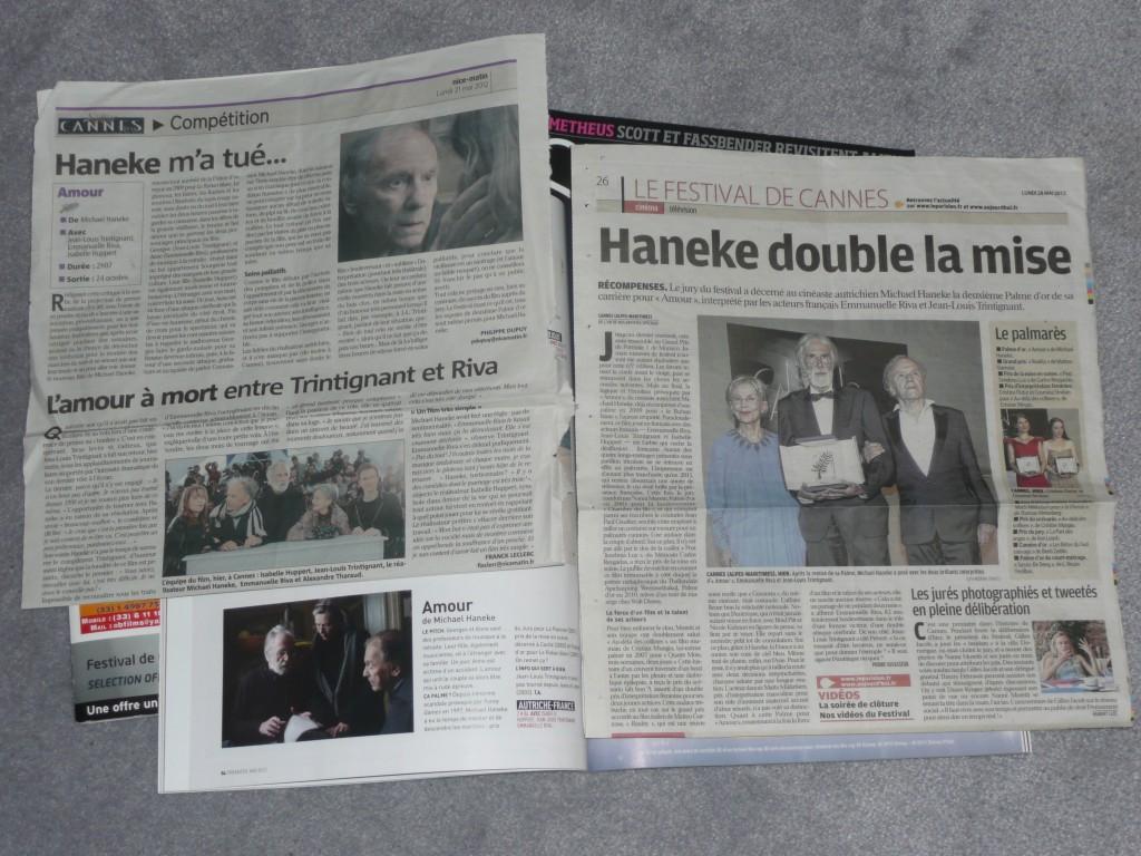 le film Amour dans la Presse