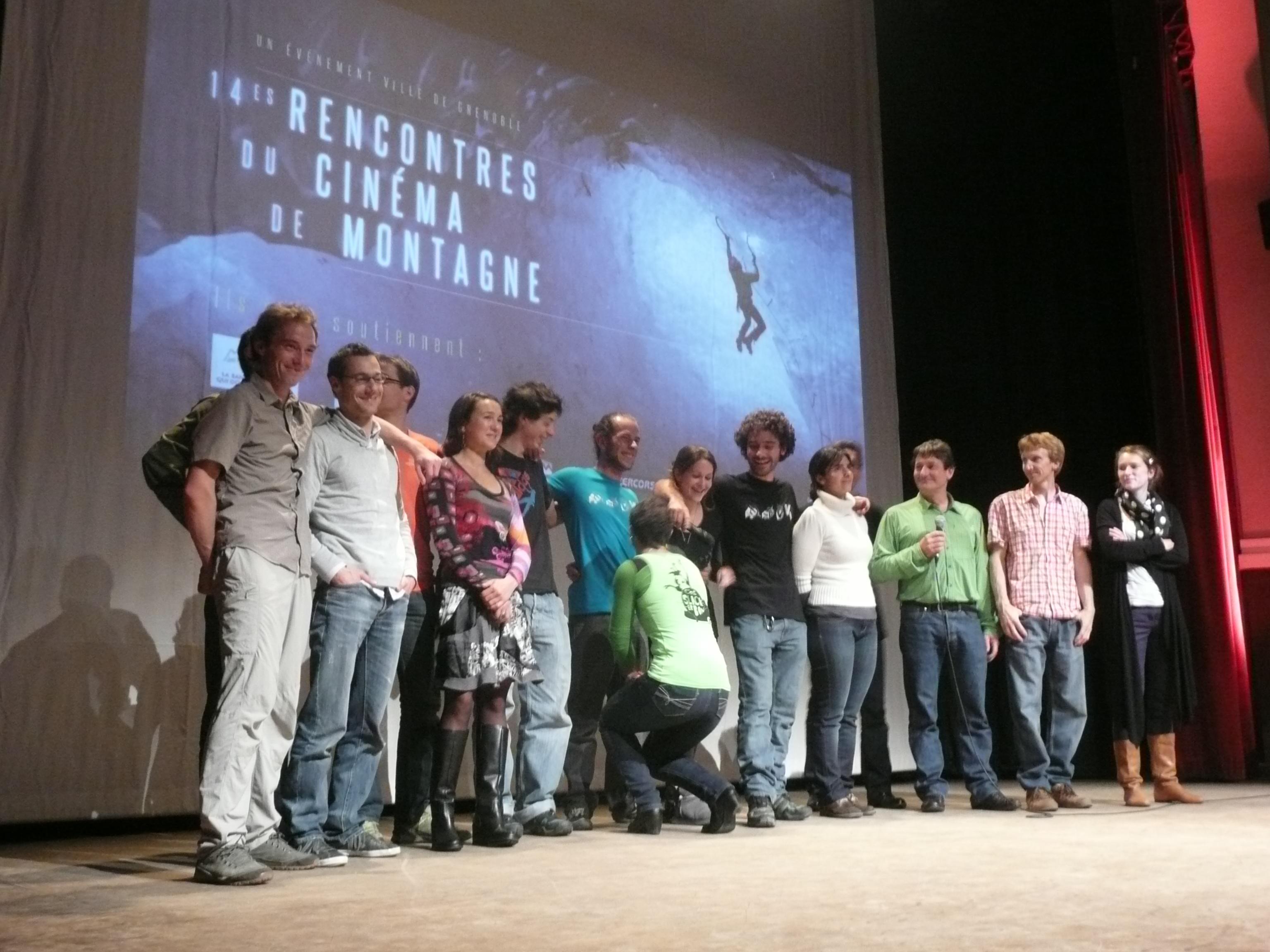 l'équipe de l'avant-première des 14es Rencontres du Cinéma de Montagne