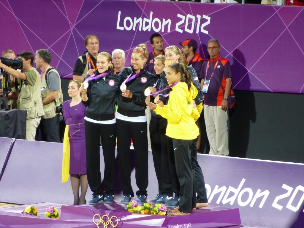 le podium féminin de Beach Volley