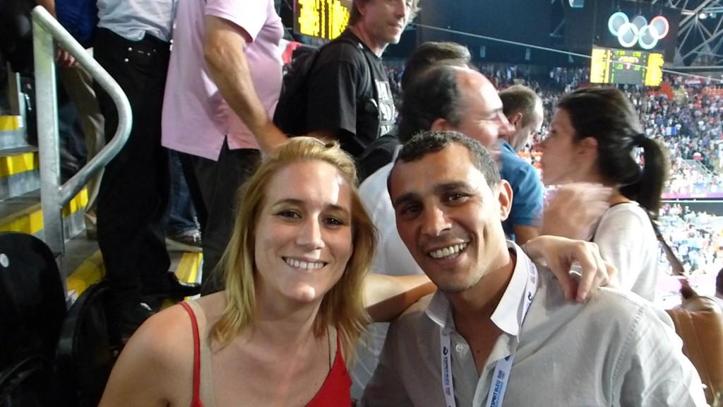 Avec Brahim Asloum