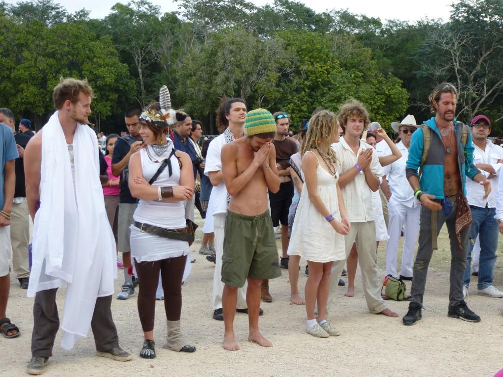 hippies à Chichen Itza