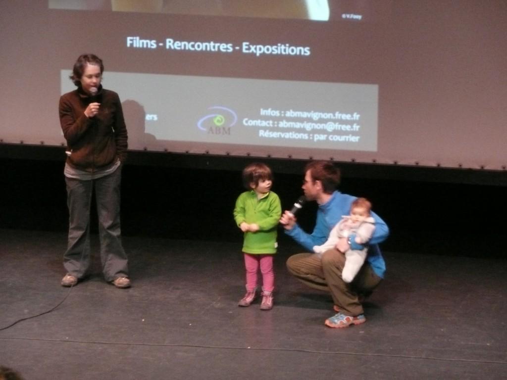 Delphine et Damien Artero et leurs enfants