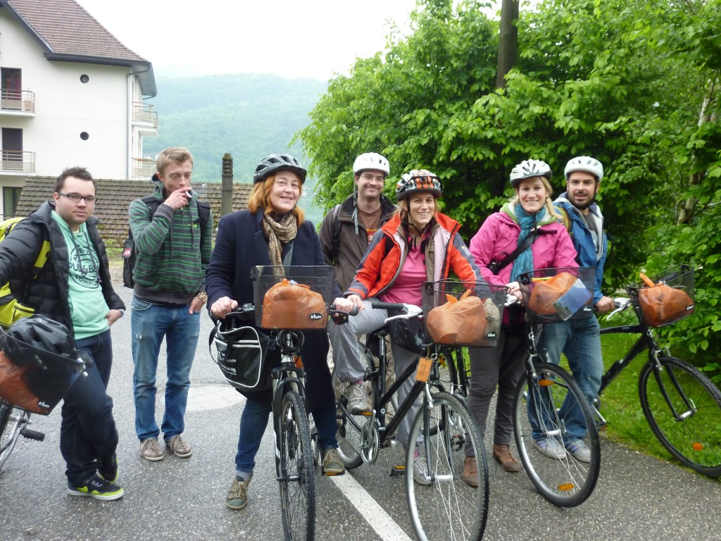 l'équipe de blogueurs à vélo