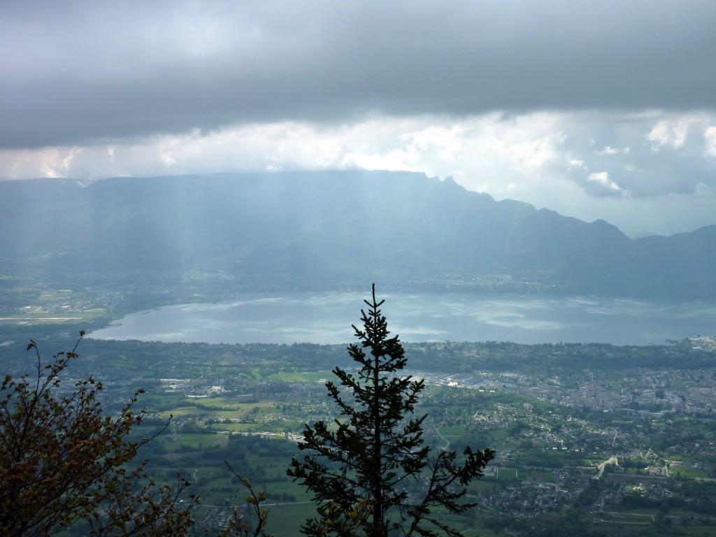 vue sur le lac du Bourget depuis le Mont Revard