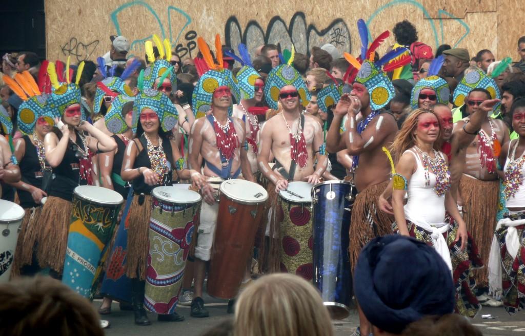 Percussionistes au Carnaval de Notting Hill