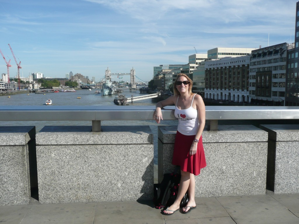 A Londres, au loin le Tower Bridge