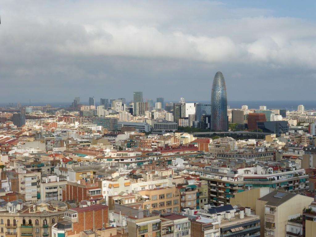 Vue de Barcelone depuis les tours de la Sagrada Familia
