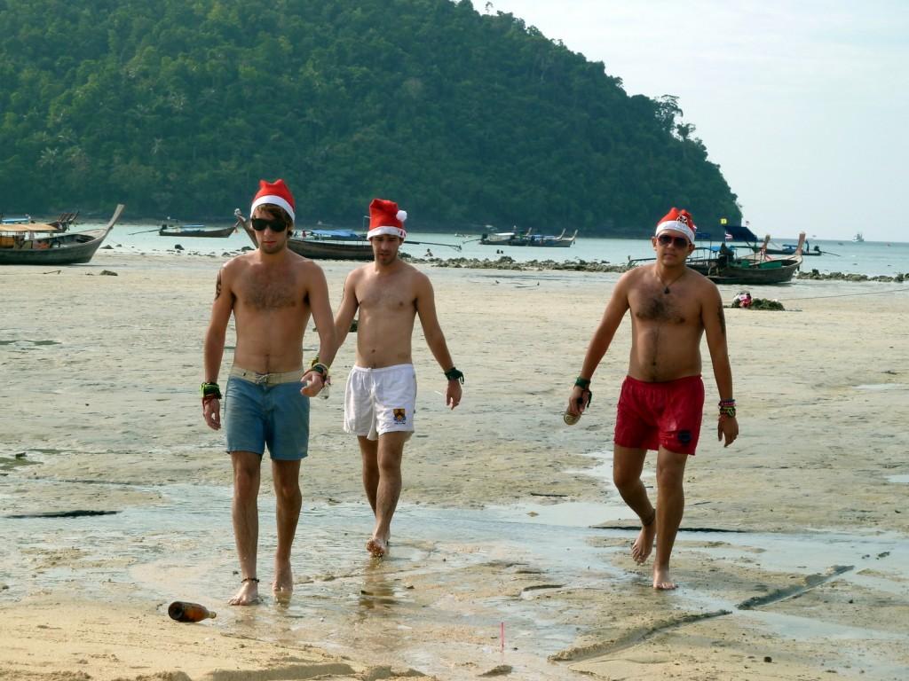 peres-noel-plage-thailande