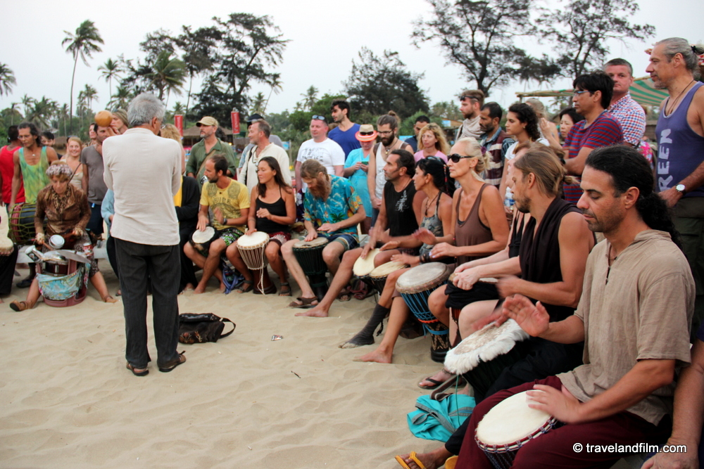 drum-circle-arambol-beach-goa