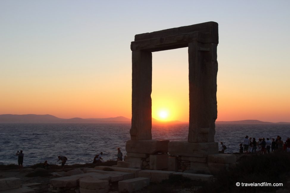 naxos-portara-sunset