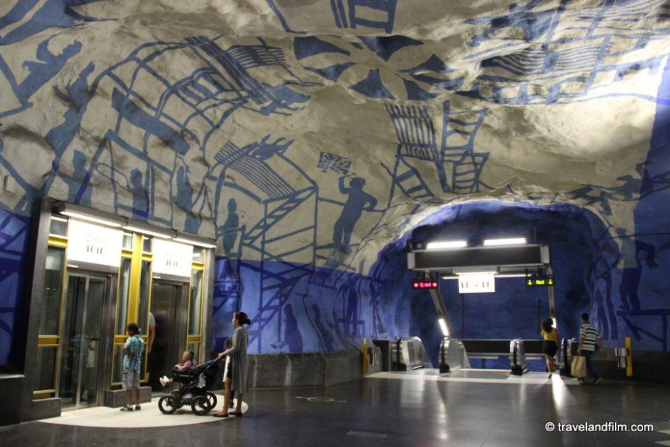T-Centralen-metro-station-stockholm-blue-line