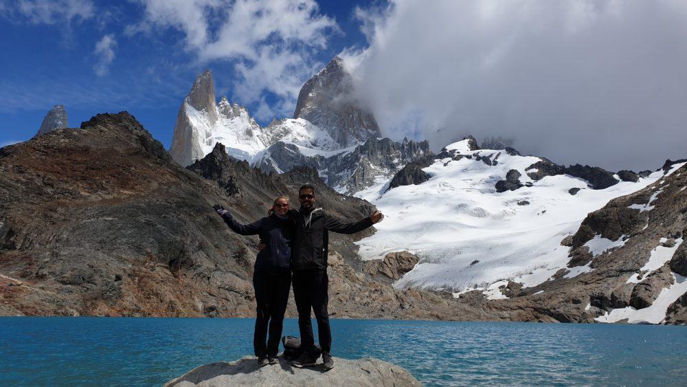 Cecile et Quentin DestinationTourDuMonde Laguna de los Tres El Chalten Argentine