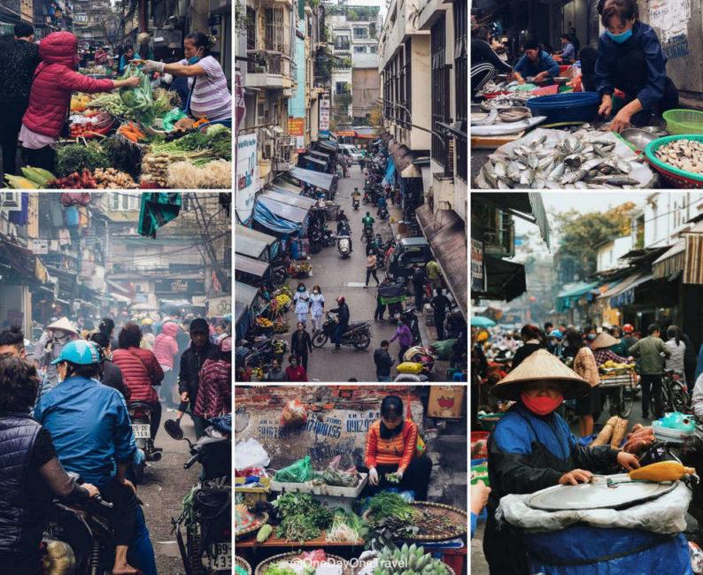 Marché Vietnam Hanoï OneDayOneTravel
