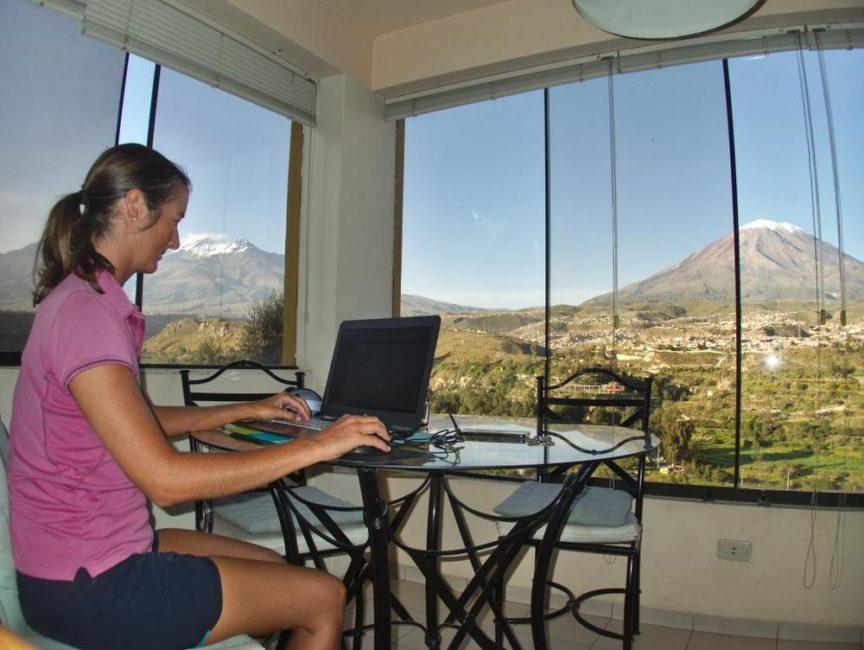 Digital nomad confinée à Arequipa